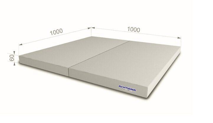 Sporta paklājs 1000*1000*60, pelēkā krāsa
