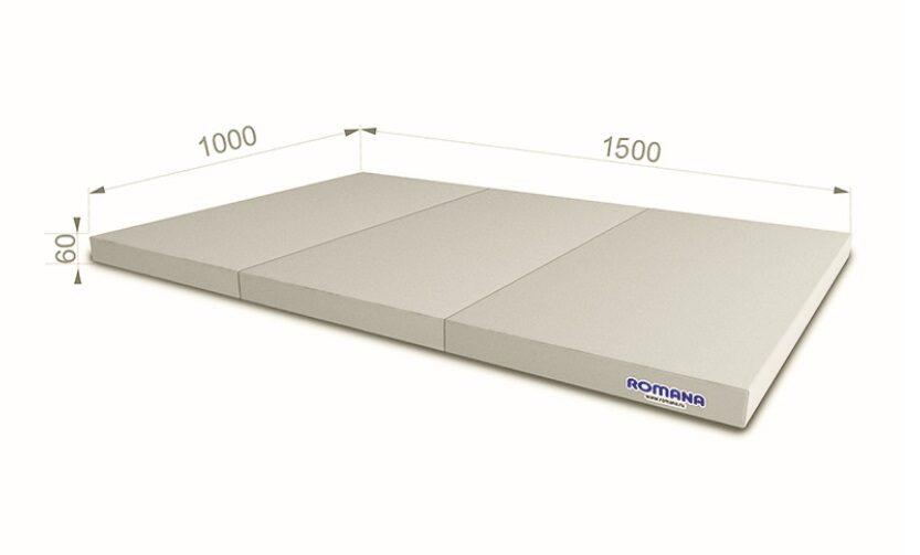 Sporta paklājs 1000*1500*60, pelēkā krāsa