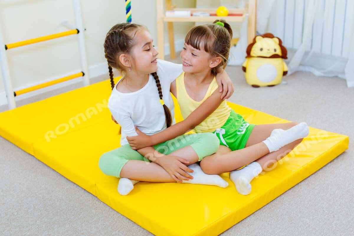 Sporta paklājs 1000*1500*60, dzeltenā krāsa