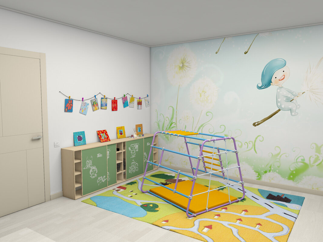 Rotaļu laukums Wallbarz BabyBarz Color