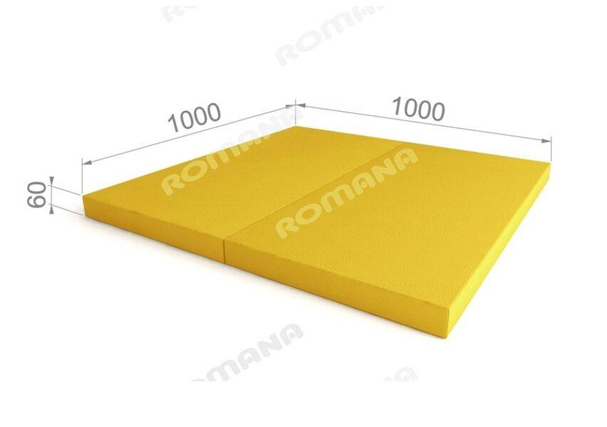 Sporta paklājs 1000*1000*60, dzeltenā krāsa